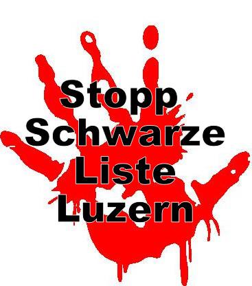 Stopphand Schwarze Liste Luzern